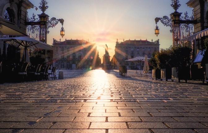 Levé de soleil Place Stanislas - Nancy