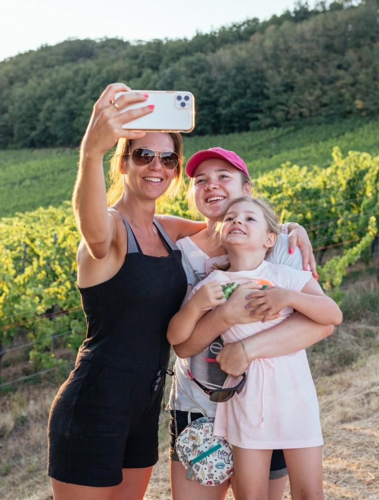 Visite du vignoble en famille
